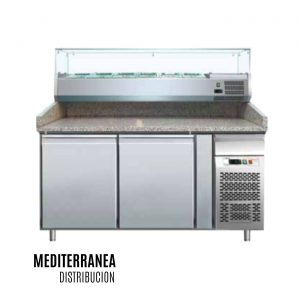 MESA PIZZERA +Vitrina Refrigerada