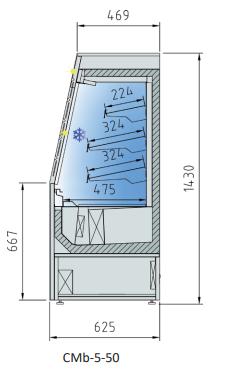 EXPOSITOR REFRIGERADO CMb-5-50